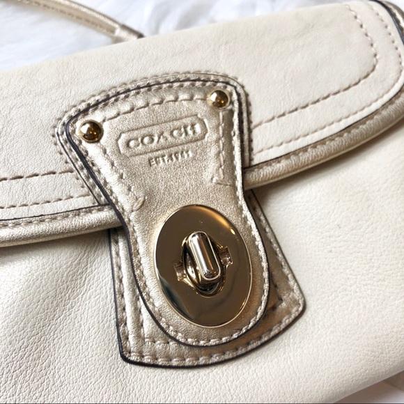 Coach Handbags - Authentic Leather Coach Legacy Wristlet